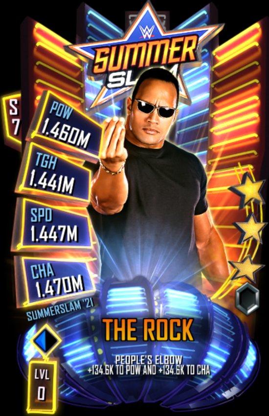 WWE SuperCard SummerSlam 2021 The Rock