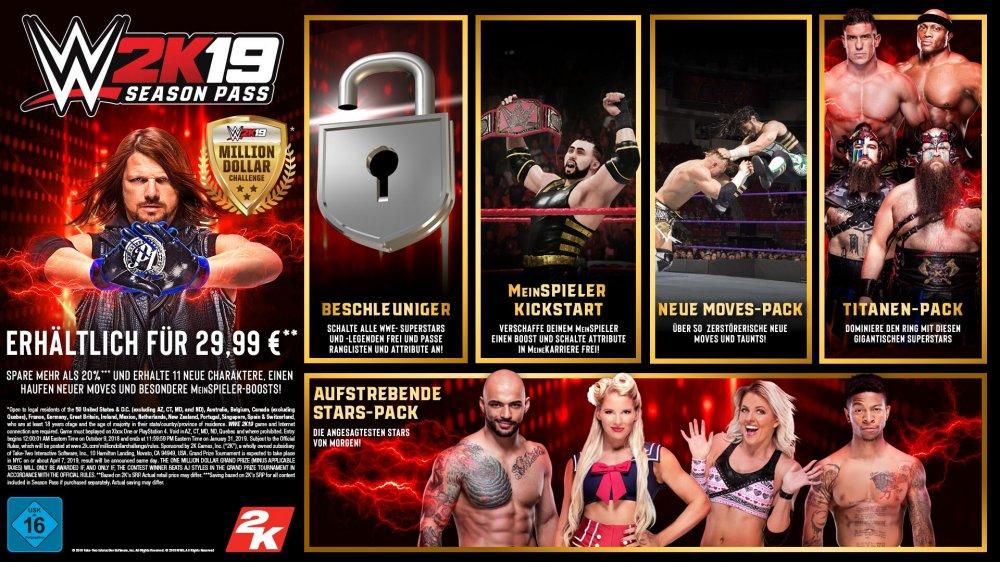 WWE 2K19 Season Pass Infografik